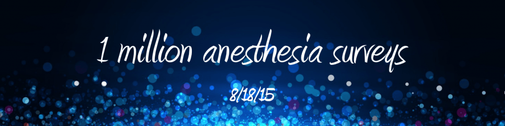 1 million anesthesia surveys