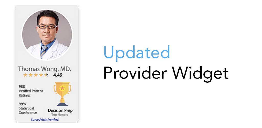Updated Provider Widget