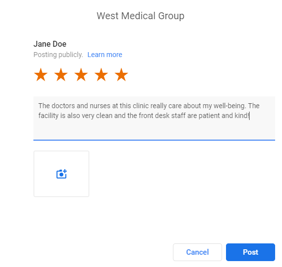 Google Patient Review Forwarding